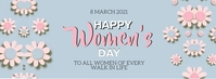 HAPPY women's DAY MESSAGE CARD Template Couverture Facebook