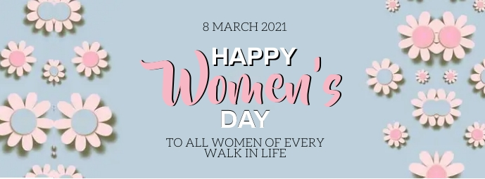 HAPPY women's DAY MESSAGE CARD Template Facebook Omslag Foto