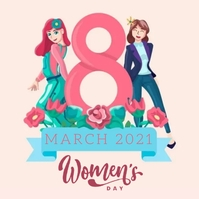 HAPPY women's DAY MESSAGE CARD Template Publicación de Instagram