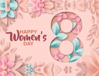 HAPPY women's DAY MESSAGE CARD Template Ulotka (US Letter)
