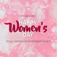 HAPPY women's DAY MESSAGE CARD Template Iphosti le-Instagram