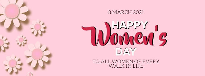 HAPPY women's DAY MESSAGE CARD Template รูปภาพหน้าปก Facebook