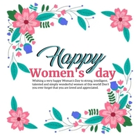 HAPPY Women's DAY ONLINE GREETING template Instagram na Post