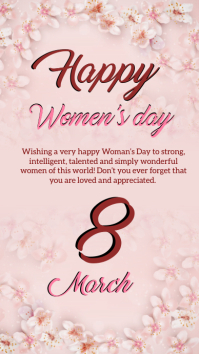 HAPPY Women's DAY ONLINE GREETING template Instagram Story