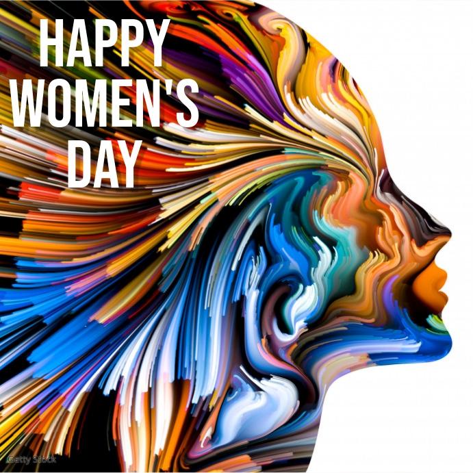 happy women's day template Instagram-opslag