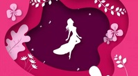 Happy women's Day Video Ekran reklamowy (16:9) template