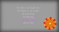 Happy women's Day video Digitalanzeige (16:9) template