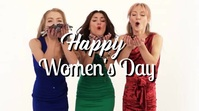 Happy Women's Day Video Greeting Card Ad Digitale Vertoning (16:9) template