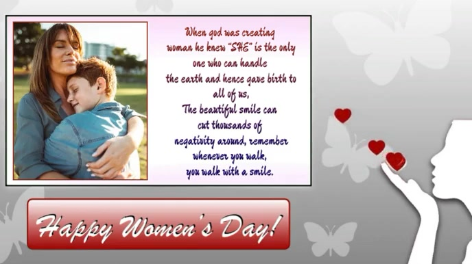 Happy Women's Day wishes Animated Template Tampilan Digital (16:9)