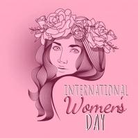 happy women's day wishes design template Instagram-Beitrag