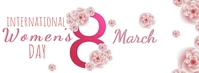 happy women's day wishes design template Facebook Omslag Foto
