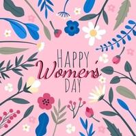 happy women's day wishes design template Message Instagram