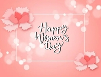 happy WOMEN'S day wishes design template Flyer (format US Letter)