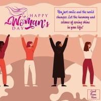 Happy Women's Day wishes wallpaper Instagram Post template