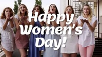Happy Womens Day Card video Celebrating women Facebook-covervideo (16:9) template