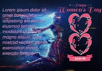 happy womens day A4 template
