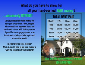 Toby Price Hard-earned rent money Flyer (US-Letter) template