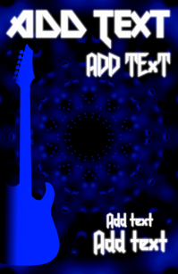 hard rock and roll blue dark metal style text
