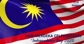 Hari merdeka,Malaysia Independence day Image partagée Facebook template