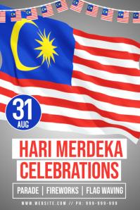 Hari Merdeka Poster template