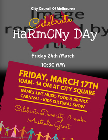 Harmony Day Celebration Flyer Template