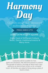 Harmony Day Celebration Poster Template