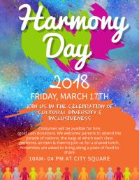 Good Harmony Day School Event Flyer Template