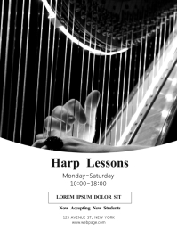 Harp lessons Flyer Design Template