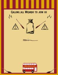 Harry Potter Birthday Invitation