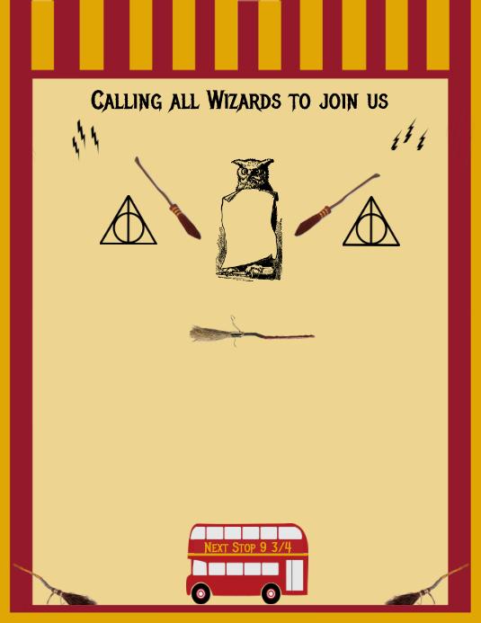 Harry Potter Birthday Invitation Customize Template