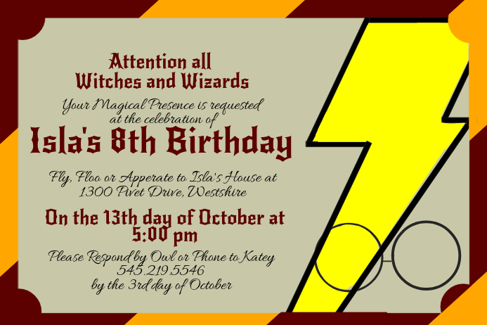 graphic about Harry Potter Printable Invitation Templates known as Harry Potter Invitation Template PosterMyWall