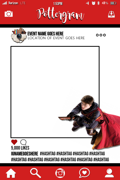 Harry Potter Party Prop Frame Template   PosterMyWall