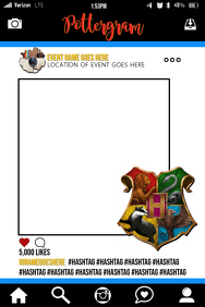 Harry Potter Party Prop Frame