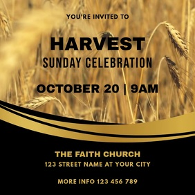Harvest Church Sunday Celebration Service Square (1:1) template