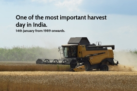 Harvest day in India Poster template