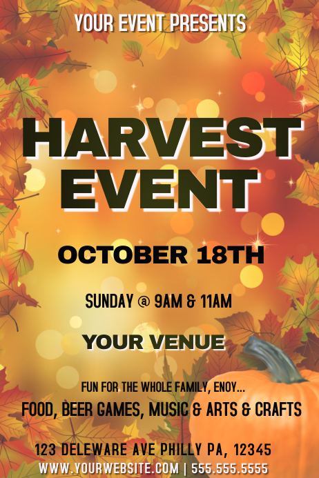 harvest event template