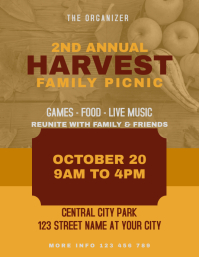 Harvest Family Picnic Flyer Invitation
