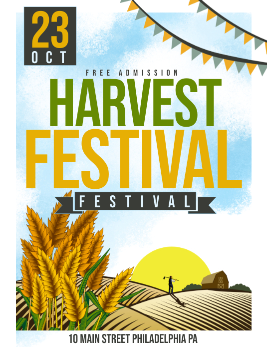 Harvest festival Ulotka (US Letter) template