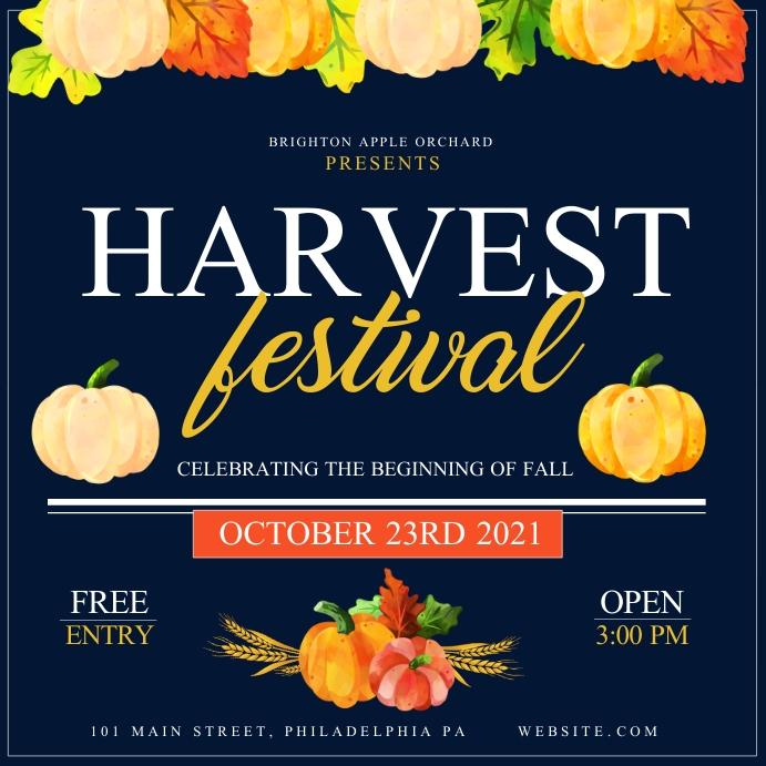 Harvest Festival Instagram-opslag template