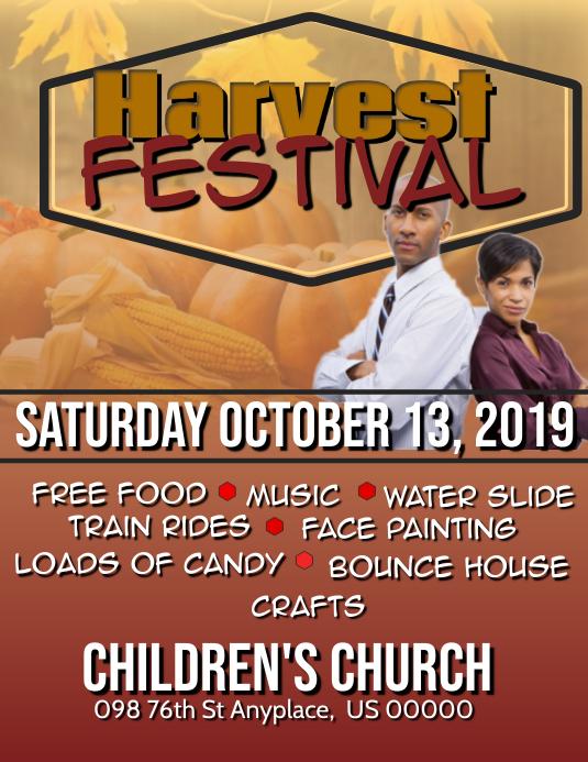 Harvest festival Volante (Carta US) template