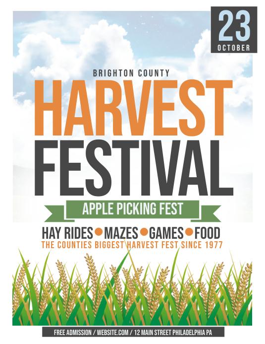 Harvest festival Flyer (format US Letter) template