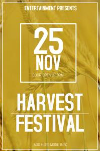 harvest fest flyer template