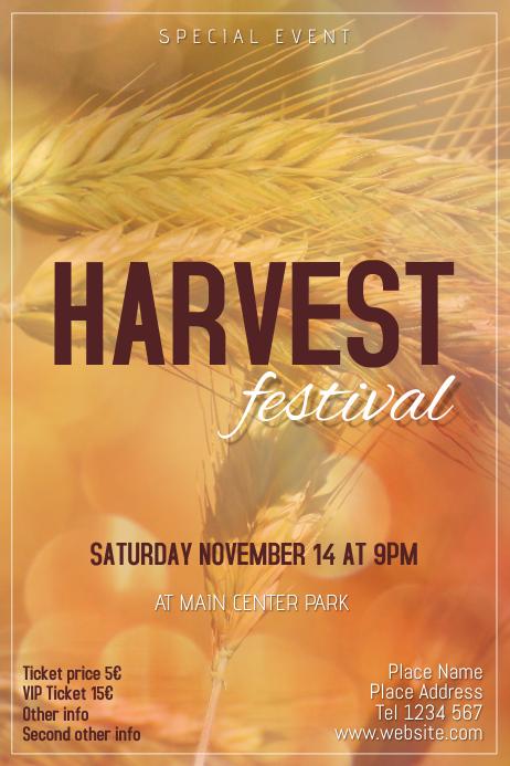 harvest festival event flyer template