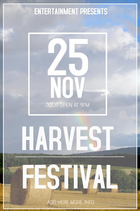 harvest festival event Flyer Template Affiche