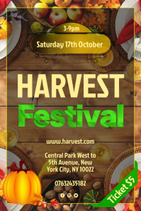 Harvest Festival Flyer Poster template