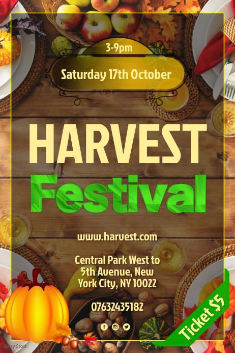 Harvest Festival Flyer Poster template