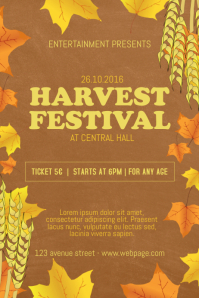 Harvest Festival Flyer Template
