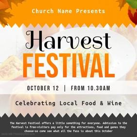 Harvest Festival Invitation Square Video Cuadrado (1:1) template