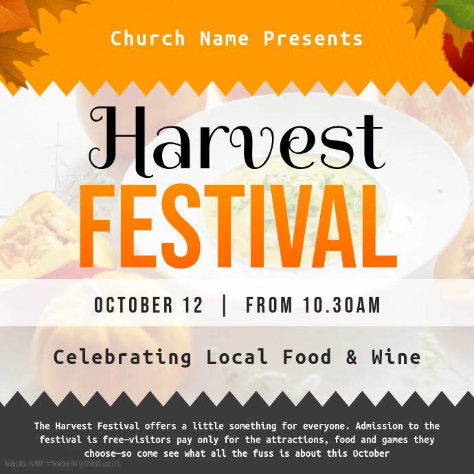 Harvest Festival Invitation Square Video
