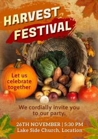 Harvest Festival Poster A4 template